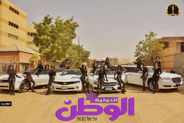 الإعلامى سامح عاطف يجري تصوير السيشن الاول  لمهرجان Miss-Nile 4